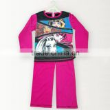 100% polyester wholesale kids pajamas for girls/boys fashion children garment baby sleeping wear