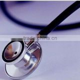 Aluminum or stainless steel single or dual head stethoscope/medical stethoscope
