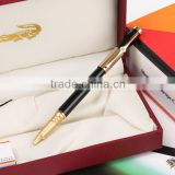 Blue color Crocodile gold plating thin fountain pen for gift