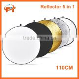 FT 43 inch / 110cm 5 in 1 Collapsible Multi-Disc Light Reflector with Bag - Translucent, Silver, Gold, White and Black