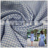 yarn dyed plaid check fabric for school uniform suppliers