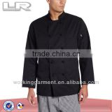 Men's White Classic Chef Coat,Long Sleeve