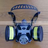 2016 hot selling double filter gas mask respirator gas mask for paint spraying chemicals