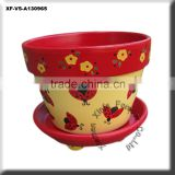 beautiful ceramic ladybug planter pot with saucer