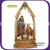 Polyresin christmas gift christian nativity set statue