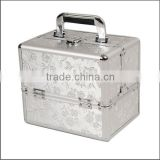 Professional Rose Print Beauty Box Aluminium Beauty Cosmetics Make Up Case ZYD-HZ285