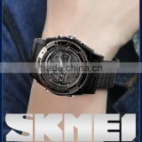 skmei 0981 instructions watches with custom watch strap and stainless steel back waterproof                                                                                                         Supplier's Choice
