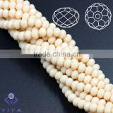 4MM Cheaper Making DIY Jewelry Glass Loose Rondelle Crystal Glass Beads Wholesale made in China