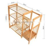 100% Natural Bamboo Shoe Bench, Display Racks, With Umbrella or Boot Storage