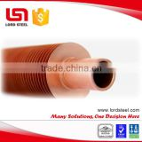 Aluminium brass copper low fin tube , finned tube