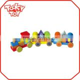 Children Wooden Building Block Train Set Wood Toy Train                                                                         Quality Choice