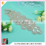 HC-3461 Hechun Hot Sale Hot Fix DMC Crystal Stone Applique for Wedding Belt Decoration