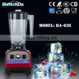 Hot selling commercial mixer blender with 100% coppor motor 1.8mm 304 stainless steel blade