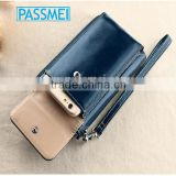 2015 new fashion iphone6s handbag ,sim card holder wallet,genuine cowhide leather key holder wallet