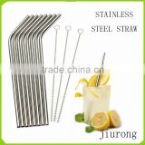 Set Of Stainless Steel Straws Free Cleaning Brush Included Strongest Metal Reusable Eco Friendly Drinking Straws