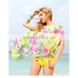 Beach Coverup Women's bikini Sarong with flower print