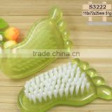 factory cute pp plastic nail art cleaning brush foot shape