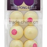 Multiply cute printing custom pingpong ball color pingpong ball cheap table tennis ball plastic pingpong ball 6pk