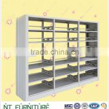 library furniture metal book shelf , bookshelves designs wooden exported to Dubai