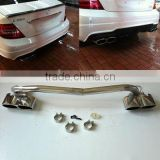 fit for BENZ C-CLASS W204 exhaust tips with AM logo and S65 look 07~ AMG style