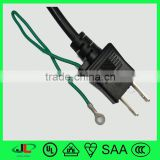 High quality factory Japanese 3cores 2 flat pin plug with pse approval earthing