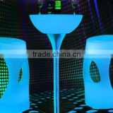 2016 Top Sale Decorative party led color changing table/Garden Furniture Set Outdoor Console Table/Disco Table
