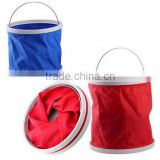 waterproof 600D Oxford cloth with PVC coating and PP ring top and bottom Material Foldaway bucket for washing cars
