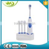 Teeth Tooth Care New Electric Automatical Battery Powered Toothbrush + 3 Replacement Brush Heads