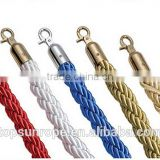 luxury stainless steel twist / Velvet rope barrier, stanchions ropes 1