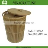 bamboo laundry hamper with lid for washing clothes