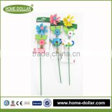 garden kettle and flower shaped plant use cheap wholeasale yard wooden stake for garden decoration