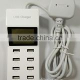 USB Power Adapter with eight USB power ports for mobil phone and tablets