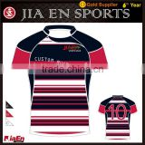 Custom fit men's rugby shirts with embroidery logo, blank green design rugby wear sets