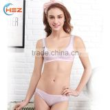 HSZ-2271 Latest Design 2017 Women Sexy Panty Lingerie Indian Bra Brands Customized Elastic Band Mature Lady Hot Underwear