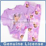 Double faced fabric Chiffon baby pajamas girls baby flannel pajamas