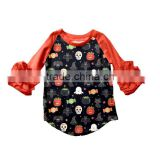 Wholesale icing ruffle raglan tops Halloween ruffle shirts icing raglan ruffle shirts for toddler