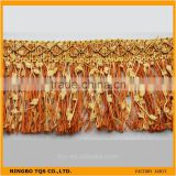 Cheap Lace Gold Braid Tassel Trimming for sofa