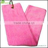Velvet golf towel ring cotton golf towel oem golf towel custom logo wholesale china factory