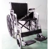 Wheelchair with mag style wheels and swing away footrest
