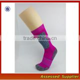 Pink Women Crew Size WHolesale Merino Wool Hiking Sport Traing Socks