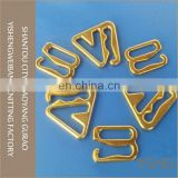 different shape golden color metal hook for underwear accessory