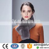 Premium quality simple style genuine rex rabbit fur scarf for women
