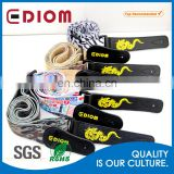 Wholesale Electric Eco-friendly Logo Sublimation Polyester Custom Leather Guitar Shoulder Strap