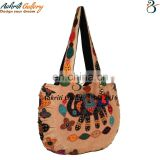 Bag Tribal Shoulder Bag Ethnic Designer Patch work Elephant Design Fashionable Stylish Indian Handmade 100% Cotton Shoppers Bag
