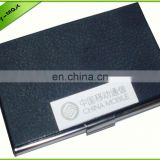 Embossed leather business card holder leather id belt card holder