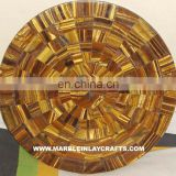 Round Stone Tiger Eye Table Top