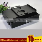 Custom KTV supplies storage box black acrylic hotel supplies display box