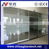 Size customized frosted glass CE&CCC PVC&Aluminum frame soundproof sliding tempered safety glass window