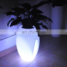 Waterproof led illuminate glowing flower pot /outdoor plastic flower vase