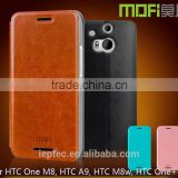MOFi Case Celular Leather Flip Housing for Original HTC One M8, Mobile Handset Coque TPU Back Cover for HTC M8s